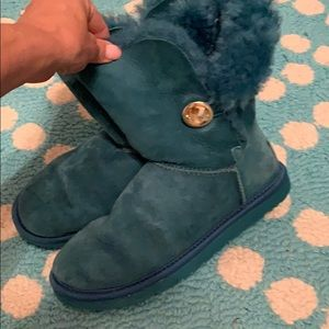 Ugg teal with gold button 6